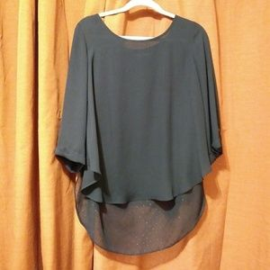 🐔Skies are Blue size M black blouse🐔